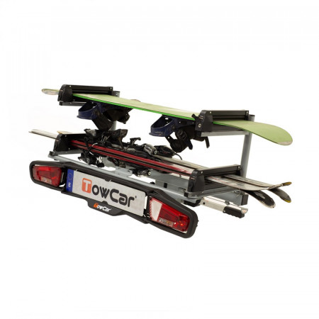 Suport schi/snowboard TowCar Aneto 4 cu prindere pe carligul de remorcare