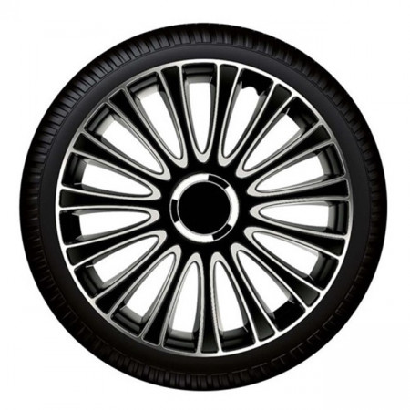 "Set capace roti Petex 16"" LeMans Pro, negru cu gri, calitate premium"