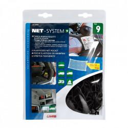 Buzunar din plasa elastica - 30x18cm, Net-System-9, negru