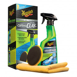 Kit decontaminare Meguiar's Hybrid Ceramic Quik Clay Kit