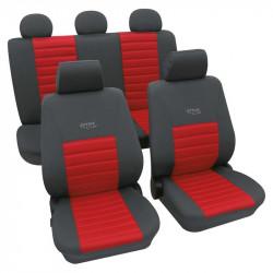 Set huse scaune auto, Sport Active, culoare gri/rosu