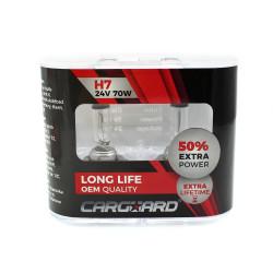 CARGUARD - Set de 2 becuri Halogen 24V - H7, 70W, +50% Intensitate - LONG LIFE