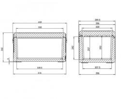 Lada frigorifica fara alimentare Dometic WCI 42 Cool-Ice , capacitate 41 litri