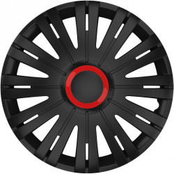 Set Capace Roti Auto Jante Active RR 4buc - Negru/Rosu - 15 inch