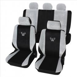 Set huse scaune auto Petex, Butterfly, gri/negru