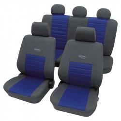 Set huse scaune auto PETEX, Sport Active, culoare gri/albastru - 11 piese