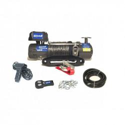 Troliu auto Husar Winch 10000Lbs 4536KG cablu de otel telecomanda cu fir si wireless