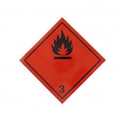 Autocolant eticheta avertizare/informare ADR 3, Cargoparts