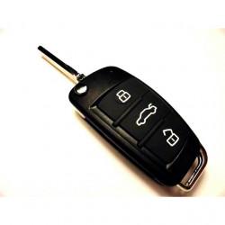 Carcasa cheie briceag Audi, 3 butoane, NEW