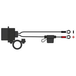 Priza Dubla USB cu prindere pe ghidon Oxford 5V 2Amp