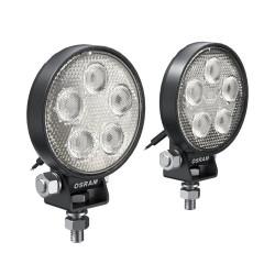 Set 2 proiectoare LED 6000K, 550 LM - LEDriving Round VX70-SP Osram