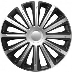 Set Capace Roti Auto Jante Trend SB 4buc - Argintiu/Negru - 14 inch