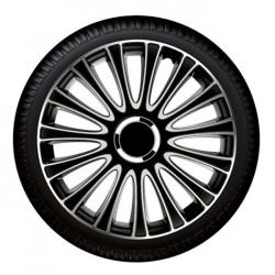 "Set capace roti Petex 14"" LeMans Pro, negru cu gri, calitate premium"