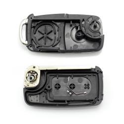 CARGUARD - Volkswagen Touareg - Carcasă cheie tip briceag, cu 3 butoane