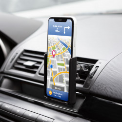 MNC - Suport de telefon cu fixare în grilajul de aerisire - negru