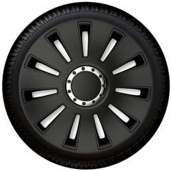 "Set capace roti Petex 17"" Silverstone Pro Black, negru, calitate premium"