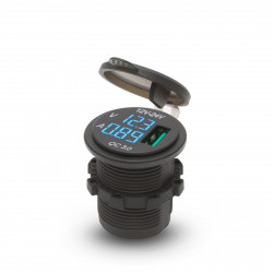 Adaptor USB cu montare în locul brichetei cu voltmetru