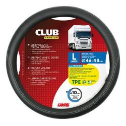 Husa volan Lampa Club Premium, 46/48 cm, Negru