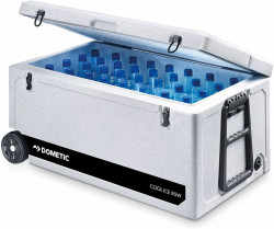 Lada frigorifica fara alimentare Dometic CI 85W Cool-Ice , roti si maner pentru transport tip troller, capacitate 86 litri