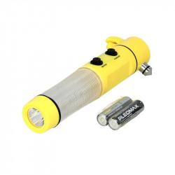 Lanterna cu LED, magnetica si cap pentru spart geam urgenta, Mammooth