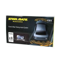 Senzori de parcare fata-spate STEELMATE PTS810V10 cu 8 senzori