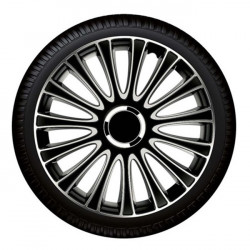 "Set capace roti Petex 15"" LeMans Pro, negru cu gri, calitate premium"