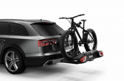 Suport biciclete Thule VeloSpace XT cu prindere pe carligul de remorcare (13 pini) - pentru 3 biciclete , culoare neagra