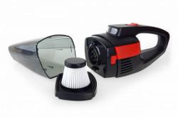 Aspirator auto AMIO 60 W, tensiune baterie 7,4 V, negru/rosu