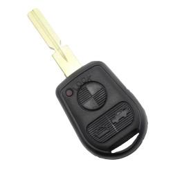 CARGUARD - BMW - carcasa cheie cu 3 butoane și lama 4 piste (model nou)