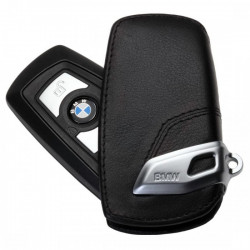 Husa protectie cheie originala BMW - Basic Line - piele neagra