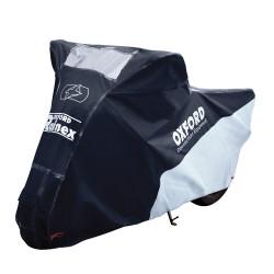 Husa Protectie Moto Impermeabila & Rainex& Oxford, Negru/Argintiu, S