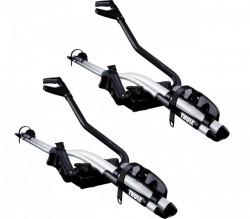Pachet 2 buc suporturi biciclete Thule ProRide 591 Argintiu cu prindere pe bare transversale