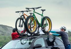 Pachet 2 buc suporturi biciclete Thule ProRide 598 Argintiu cu prindere pe bare transversale
