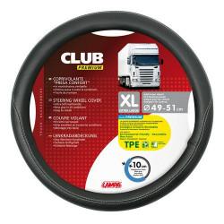Husa volan Lampa Club Premium, 49/51 cm, Negru