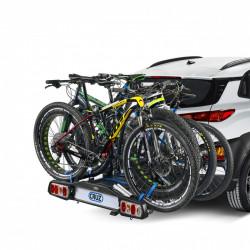Suport biciclete Cruz Pivot pentru 4 biciclete cu prindere pe carligul de remorcare