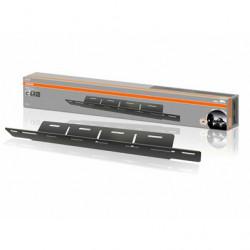 Suport placuta inmatriculare cu adaptor pentru prindere lumini proiectoare led Osram
