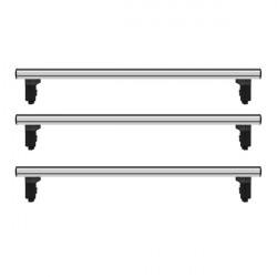 Bare transversale Iveco Daily III, model 2000-2006, L1,L2,L3 - H1,H2, aluminiu, Menabo Professional