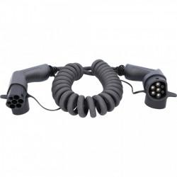Cablu de incarcare spirala TYPE 2 / TYPE 2 11 KW 400 V 16 A 5M-EFUTURO KS-TOOLS