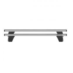 Bare transversale Menabo Delta Silver pentru Fiat Doblo II, model 2015+