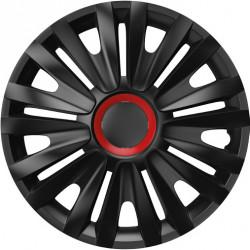 Set Capace Roti Auto Jante Royal RR BL 4buc - Negru/Rosu - 16 inch