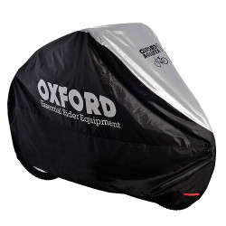 Husa Bicicleta Oxford Aquatex, pentru 1 Bicicleta, Negru/Argintiu