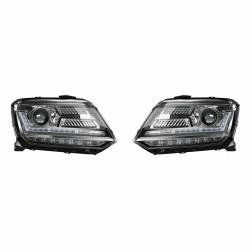 Set 2 faruri LED pentru VW Amarok (2010-) negru LEDriving Halogen Osram