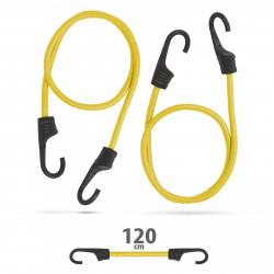 Set de cordeline de fixare profesionale - galben - 120 cm x 8 mm - 2 buc. / pachet