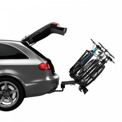 Suport biciclete Thule VeloCompact 927 cu prindere pe carligul de remorcare + adaptorul Thule 9261 pentru a 4-a bicicleta
