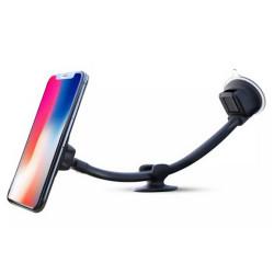 Suport telefon magnetic auto cu fixare pe parbriz cu ventuza