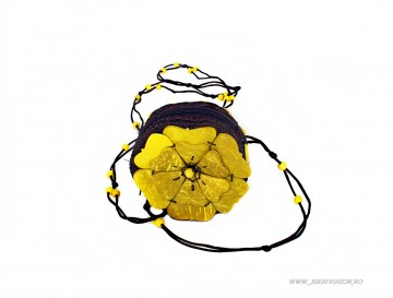 "*Mini Bag Clutch ""Flower Bomb"" Lemon Ed. by JukaFashion.ro (2018)"