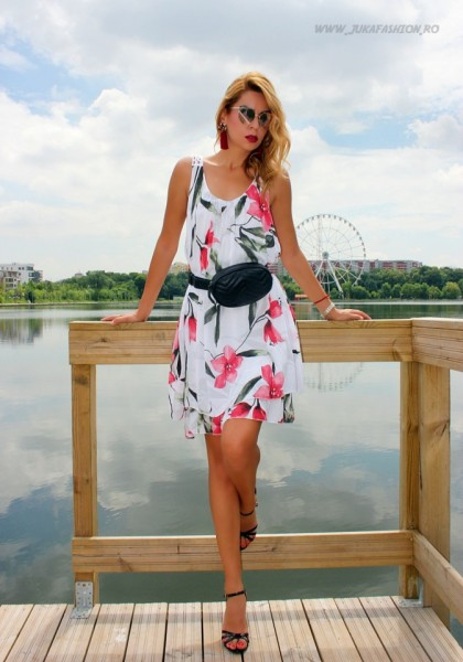 rochie midi dama femei