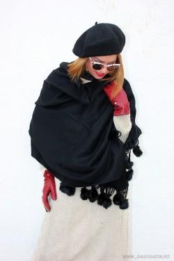 "*Sal Dama PREMIUM ""Borlas"" Black by jukafashion.ro cod PRM154"