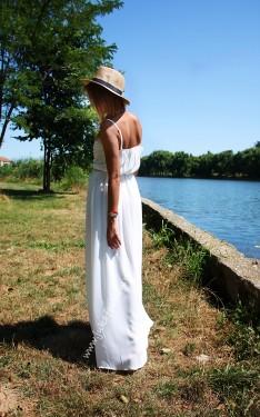 "Rochie  ""Lady White"" by JukaFashion.ro cod 195B"