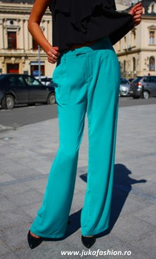 "Pantaloni Dama ""Axel"" Turcoaz Limited Ed. by JukaFashion.ro cod B023"